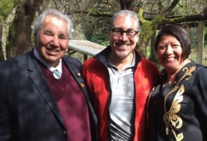 Senator Murray Sinclair and Kathleen Sinclair and Harlan Pruden at the University of British Columbia taken on March 18, 2016